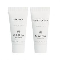 Lahja Sinulle - yöseerumi ja yövoide - Duo Serum C 5 ml & Night Cream 5 ml Maria Åkerberg